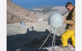 Station AV05, closest to Augstine's summit, has been missing since the Jan. 13, 2006 eruptions.