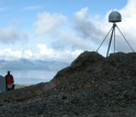 Station AV01, east of Augustine's summit, survived the recent eruptions and sends hourly data.