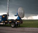 Photo of VORTEX2 researchers trailing this Wyoming twister during last spring's expedition.