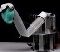 Photo of soft inflatable robot arm from Carnegie Mellon