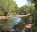 Photo  of San Pedro River in Arizona where researchers will conduct studies of river flow.