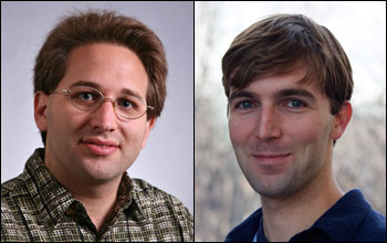 Photos of Scott Aaronson, left, and Robert Wood, right, 2012 NSF Alan T. Waterman Awardees.