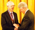 George Whitesides receives the Medal of Science from President Clinton.