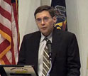 Image of Carl Wieman of the White House Office of Science and Technology Policy at Sept. 19 event.