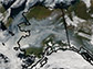 satellite image of Alaska captured in August 2005
