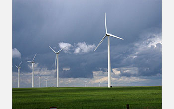 Photo of wind farm near Lamar, Colo.