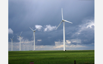 Photo of a wind farm near Lamar, Colo.