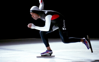 Long track speed skater Shani Davis.