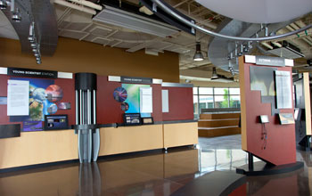 Photo of one of the Supercomputing Center halls.