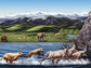 Artist's reconstruction of Zanda Fauna from the Pliocene about three to five million years ago.