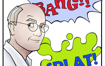 Dr. Biology--the comic book persona behind the Ask A Biologist program