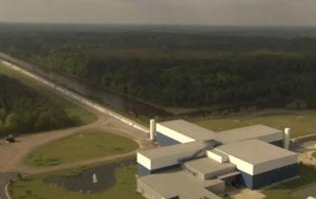 aerial view of LIGO facility