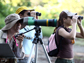 Citizen scientists birdwatching