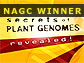 graphic with text Secrets of Plant Genomes Revealed!