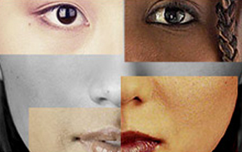 composite face of several races