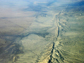aerial view of San Andreas Fault