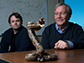Ken Shea (right) and Jeffrey O'Brien have developed a broad-spectrum snake venom antidote