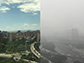 Beijing with and without haze