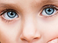 close-up of a child's eyes