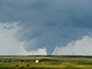 a tornado near Elk Mountain, west of Laramie Wyoming