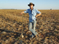 Eric Roy on cropland in Mato Grosso, Brazil