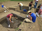 UC students at work on the excavation