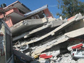 collapsed building from Haiti earthquake