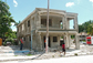 residence damaged in Haiti's earthquake
