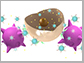 artist's conception of nanoparticle-carrying immune cells