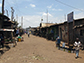 a main street in the Kibera settlement of Nairobi