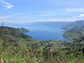 Southward view of the northern third of the Lake Toba