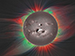the Sun's magnetic field at its surface and hot plasma