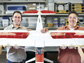researchers with the autonomous aircraft