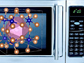 image of a microwave with molecules