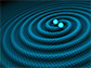 artist impression of gravitational waves generated by binary neutron stars.