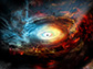 artist impression of the heart of galaxy NGC 1068