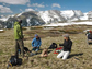 researchers on the tundra of the Niwot Ridge