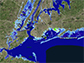 parts of New Jersey and New York with 8 feet of sea-level rise