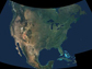 NASA satellite image of North America