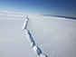 rift in Pine Island Glacier ice shelf, West Antarctica