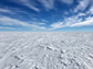 Antarctica covered with sastrugi � concrete-hard snow drifts