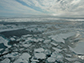 Arctic sea ice, as seen from an ice breaker ship