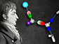 Theodor Grotthuss with a water molecule