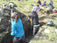 researchers dig a trench in permafrost