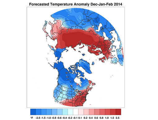 Forecast Temperature Anomaly Jan-Feb-Mar 2014