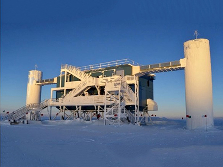 Image Captions and Credits, Solar Science Special Report ... Icecube Neutrino Observatory Antartica