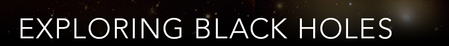 Black Holes text with stars in the background