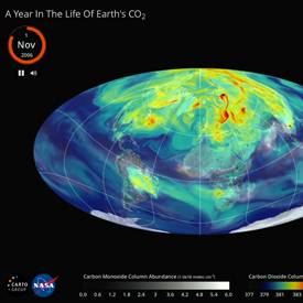 image showing Earth and how carbon dioxide flows