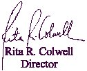 Dr. Colwell's signature block