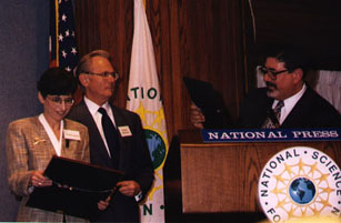 Image of Paula Apsell, Michael Ambrosino and Richard Zare